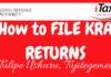 Filing the 2020 KRA returns online.