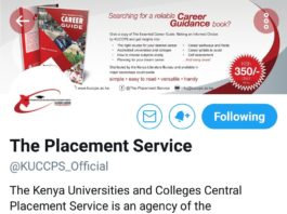 Official Twitter account for Kenya Universities and Colleges Central Placement Service, KUCCPS.