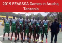 Kenya Secondary Schools Sports Association, KSSA, representatives at a past East Africa games' championship.