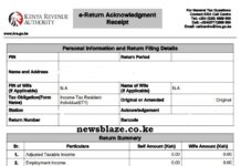 KRA Nil returns slip.