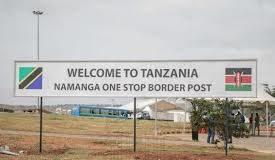 The Namanga border point between Kenya and Tanzania.