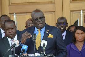 Education Cabinet secretary George Magoha. He says Kenyans must be ready to change their behaviour if schools are to be reopened in order to keep the covid-19 disease at bay.