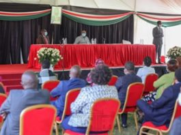 PPRESIDENT KENYATTA CHAIRING A JUBILEE PARTY'S PARLIAMENTARY GROUP MEETING.