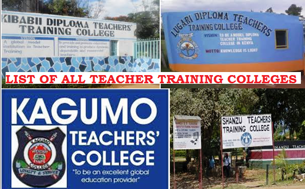 List of all public and private Teacher Training Colleges, TTCs, in Kenya.