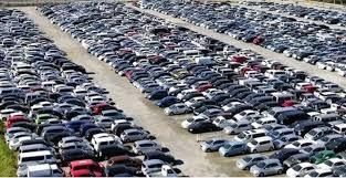 A car showroom in Mombasa, Kenya.