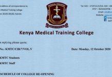 KMTC reopening dates.