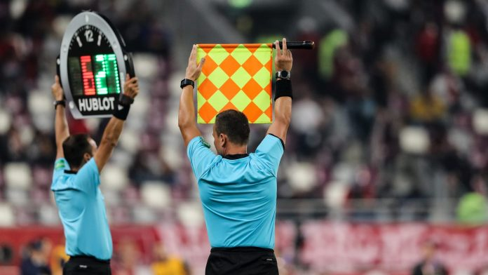 A substitution opportunity at a past UEFA match.