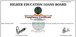 Helb Compliance Certificate.