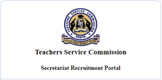 Advertised TSC vacancies at the Secretariat.