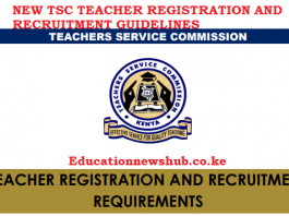 TSC latest registration and recruitment guidelines.