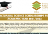 Actuarial Management scholarships