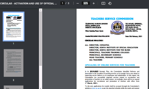 TSC goes fully digital, unveils E-platform for teachers; See this circular.