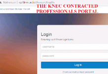 CP2 portal for Knec Contracted Professionals.