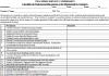 TSC Checklist of documents