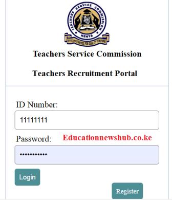 TSC recruitment portal for teachers