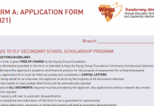 The Equity Wings to Fly Scholarship for 2021 Form Ones