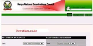 KCPE registration guide and requirements.