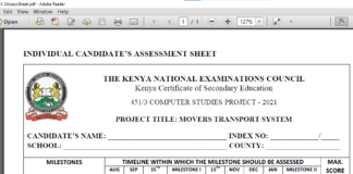 Knec guidelines on Computer Project. (2)
